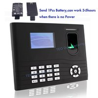 access track - Free DHL Shipping Users ZKTeco IN01A Time Attendance Fingerprint Access controller with Battery USB host Employee Tracking Clock