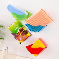 Wholesale 4 colors Double Suction Cup Sink Shelf Soap Sponge Drain Rack Bath Kitchen Sucker Storage