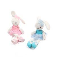 al por mayor conejitos de dibujos animados-Mamas Papas Juguetes para bebés Conejo lindo comodidad durmiendo relleno muñeca Cartoon conejito oso de peluche de peluche animales caliente juguetes para regalos de bebé B1115-2
