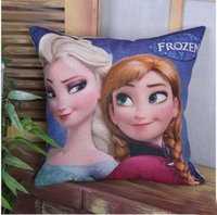 acting cartoons - Frozen Cartoon pillow cushion Lovely girl Household act the role ofing is tasted Fashionable household decoration