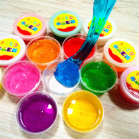Wholesale slime clay colors slime toys mud clay non toxic environmental protection Funny slime Toy can blowing bubbles draw