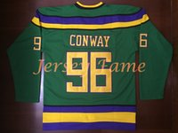 Wholesale Vanled Charlie Conway The Mighty Ducks Movie Stitched Jersey Green stitched S small xl