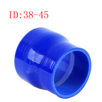 Intake Pipe Blue Universal RS.MTX Universal ID:38mm OD:45mm Silicone 0 degree reduce silicone tube connector elbow Coupler Silicone hose reducer elbow Air Intake Pipe