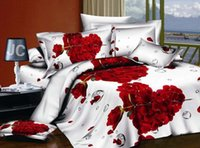 Wholesale Home textiles New style Leopard Rose Flowers Design D Bedding sets of duvet cover bed sheet pillowcase
