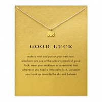 Wholesale Hot Sale Sparkling good lucky elephant Pendant necklace gold plated Clavicle Chains Statement Necklace Women Jewelry