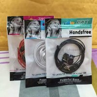 Wholesale Hot Zipper Lock Package Earphone Plastic Poly Bags OPP Packing Accessories PVC Retail Boxes For Headphones