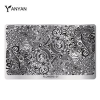 Wholesale Hot Flowers Design Nail Art Image Stamp Stamping Plates Stainless Steel Polish Printing Stencil DIY Beauty Manicure Tools