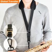 alto sax used - 1 piece professional cosy design lock hook Sax Strap widen Saxophone Neck Strap for Alto Eb Tenor Bb Saxophone use