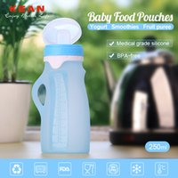 Wholesale 2 in Baby Bottle Auxiliary Feeding Bottle Silicone Collapsible Drink Bottle for Baby Feeding Approved by FDA