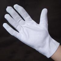 Wholesale 100 Cotton gloves Liturgy white Gloves vigogne Cotton Jersey work Hands Protector G0402