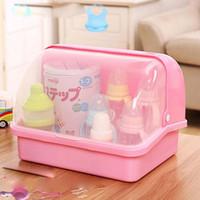 Productos para bebés Caja de almacenamiento barata Recibir la botella del caso Polvo de leche chupete Recibir la abrazadera de botella única Diseño Abrazadera de drenaje Cajas de PP