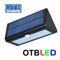 Wholesale OTBLED W LED solar light outdoor wall lighting LM Human body infrared induction smart lights