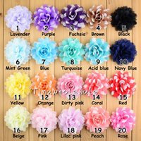 Cheap White Fabric Chiffon Flower For Wedding Dress Embellishment,Bridal Hair Flower Decoration mixed color 24pcs lot