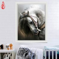 Wholesale YGS DIY D Diamond Embroidery Horse Round Diamond Painting Cross Stitch Kits Mosaic Painting Home Decoration