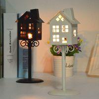 Ceramic acrylic wall holder - European Bird love candlestick Hollow lamp Portable European small five star candlestick for Creative student gift Bars