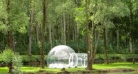 Wholesale outdoor camping bubble PVC tent Person clear inflatable lawn Quick Automatic Opening tent