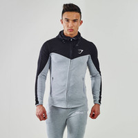 Wholesale Gymshark Hoodies Camisetas Sweaters Men Gym masculina hombre Bodybuilding Fitness Hoodies Sweatshirts Muscle Men s Jacket