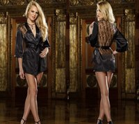 achat en gros de lingerie à domicile-Blouse Sexy Lingerie Sexy Transparent Dentelle Multi - Couleur Accueil Robe En option en Europe et aux États - Unis, peignoirs Plus Size
