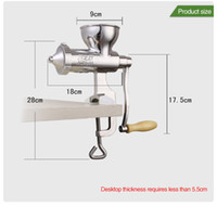 Wholesale Factory Direct Sale Stainless steel manual fruit juice exactor Healthy wheatgrass juicer Wheatgrass juice extractor Juicer masticator