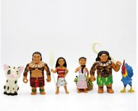 Wholesale 7 CM Moana Ocean Marvelous Toy Hand made Anime doll Princess Moyana Decoration SET