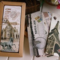 Wholesale Free shiping Different European Scenes Vintage France Paris Eiffel Tower Bookmark Set