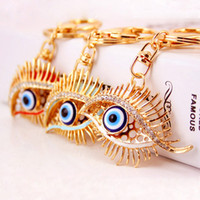keychains for car keys best selling cars for women - Best Selling Eyes Metal Keychains For Women Crystal Gem Luxurious Jewelry Car Accessories Hot Selling Wholeslae