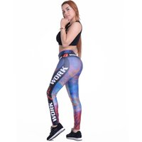 achat en gros de impression jeggings sexy des femmes-Sexy Leggings Femmes Workout Fitness Pantalon Star Print Casual Crayon Pantalons Jeggings Ventilation Leggins Mesh Pantalon femme