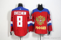 8 Ovechkin ruso JerseysFree del hielo del hockey del hielo del hockey de la Copa del mundo de los Juegos Olímpicos 2016 de las nuevas llegadas de Rusia WCH de las llegadas Minging1225