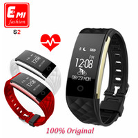 Wholesale S2 Smart Band heart rate Fitness Tracker Step Counter Fitness Watch Band Alarm Clock Vibration Wristband pk ID107 fitbit miband2