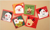 Wholesale 2016 Creative stationery cute cartoon Mini Christmas card christmas greeting card message card design for merry cheistmas and