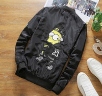 Wholesale 2017 spring and autumn label cartoon jacket men s large size thin section of the youth jacket fashion casual men factory direct sales work f