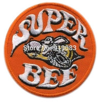 bee patch - 3 quot Hot Rod Patch Super Bee Badge Drag Race Muscle Classic Car Jacket Halloween MC Biker Vest iron on transfer