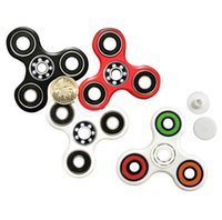 Wholesale 2017 MOQ Hand Spinner Tri Fidget Ceramic Ball Desk Focus Toy EDC For Kids Adults Free Shopping from suning