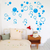 Wholesale New Bubble Wall Art Bathroom Window Shower Tile Decoration Decal Kid wall Sticker Color