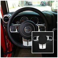 Wholesale Silver ABS Interior Decoration Trim Kit with Logo For Jeep Wrangler Cab Door For Steering Wheel