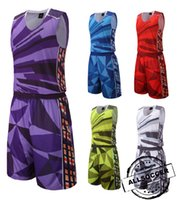 basketball uniform sets - 810 Basketball training suit uniforms basketball sets customized your team logos top quality wicking polyester sports suit