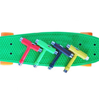 Wholesale Multifunctional Skateboard Scooter Skate Board Skateboarding T Type Assembly Tools Skateboard kit Screwdriver Color Send Randomly A234