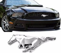 Wholesale New Ford Mustang Radiator Grille Emblem Badge Running Horse Chrome Pony Screw Tape