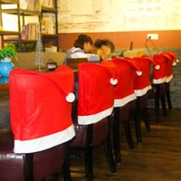 Wholesale 5 cm cm High Quality Santa Claus Hat Chair Covers Christmas Decoration Kitchen Dining Table Decor Home Party