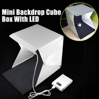 Wholesale Light Room Camera Photo Studio quot Photography Lighting Tent Kit Mini Backdrop Box Light Accessories Softbox with LED Light