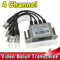 Precio de Balun pasivo de vídeo de 4 canales-BNC 4CH Vídeo Balun UTP Pasivo Coaxial Transmisión Cat 5 RJ45 Transceptor 4 Canal CAT5 CCTV Cámara Transceptor Cable Receptor