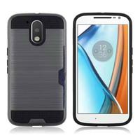 Wholesale For LG G6 V20 K4 LG U Card Pocket Phone Cover Dirt resistant TPU PC Hybrid Case