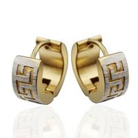 Wholesale Fashion Men Jewelry Charms Hoop Earrings Stainless Steel Ear Punk Jewelry EH