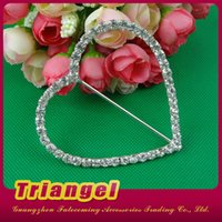 animal print invitations - mm Bar Silver Plate Crystal Heart Shaped Invitation Cards Ribbon Rhinestone Buckles Slider Wedding Supplies