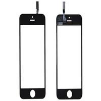 Lente de cristal del digitizador de la pantalla del panel de tacto de la alta calidad para el iPhone 5 5G 5s Balck y el reemplazo blanco Envío libre