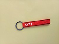 Wholesale New New Golf MK5 Key Chain Genuine Colors Key Chain GTI Honeycomb KeyTag Keyring Fit For VW Golf Hot Sale