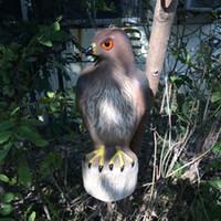 Wholesale ZILIN Factory Outlet plastic red tail hawlk decoy garden hawk decoy for bird scaring bird repellent hawk decoy