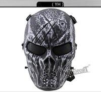 H2887015 CS Cráneo Esqueleto Full Face Tactical Paintball Proteger Seguridad Terror Máscara Halloween Cosplay Vestido Máscara Jagged horror accesorios