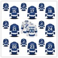 bay point - Tampa Bay Lightning Michael Bournival Alex Killorn Ondrei Palat Brayden Point Ryan Callahan Jersey Stitched Logos