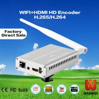 Wholesale Haiwei H8118W Hotel IPTV customized solution provider h264 HDMI WIFI encoder with rtmp h264 ip Encoder for educational broadcasting system